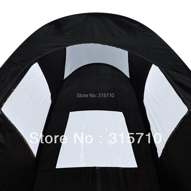 Black/Tan Pop Up Airbrush Makeup Sunless Spray Tanning Tent Booth Clear Window