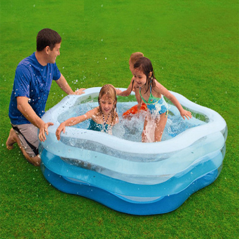 Star Style Inflatable Swimming Water Pool 185*180*53CM Baby Children Piscina Zwembad Playground Bath Pool environmentally friendly pvc inflatable shell water floating row of a variety of swimming pearl shell swimming ring