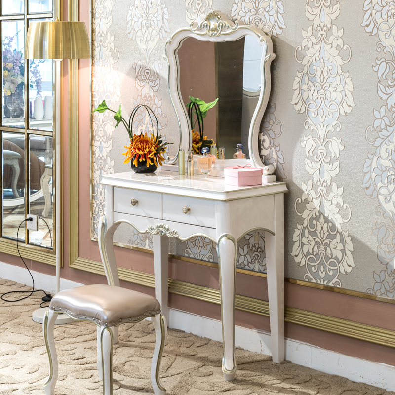 Dressing Table, French White Dressing Table With Drawers
