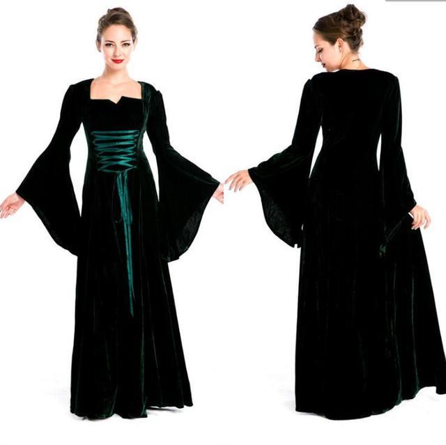 Costumi medievali Manicotto Pieno Jacquard L abito Della Principessa Costume  Per Le Donne Halloween Party dd85e9592f9d