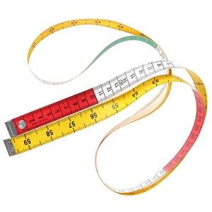 Image 3 - 1pcs 60in 단추 재단사 측정 테이프 바느질 도구 플랫 테이프 150cm 바디 측정 도구