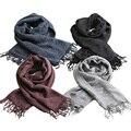 Новая женщина шарф мода трикотажные бахромой женщина долго Пашмины Шерсти воротник с все-матч чистый весна осень и зима твердых