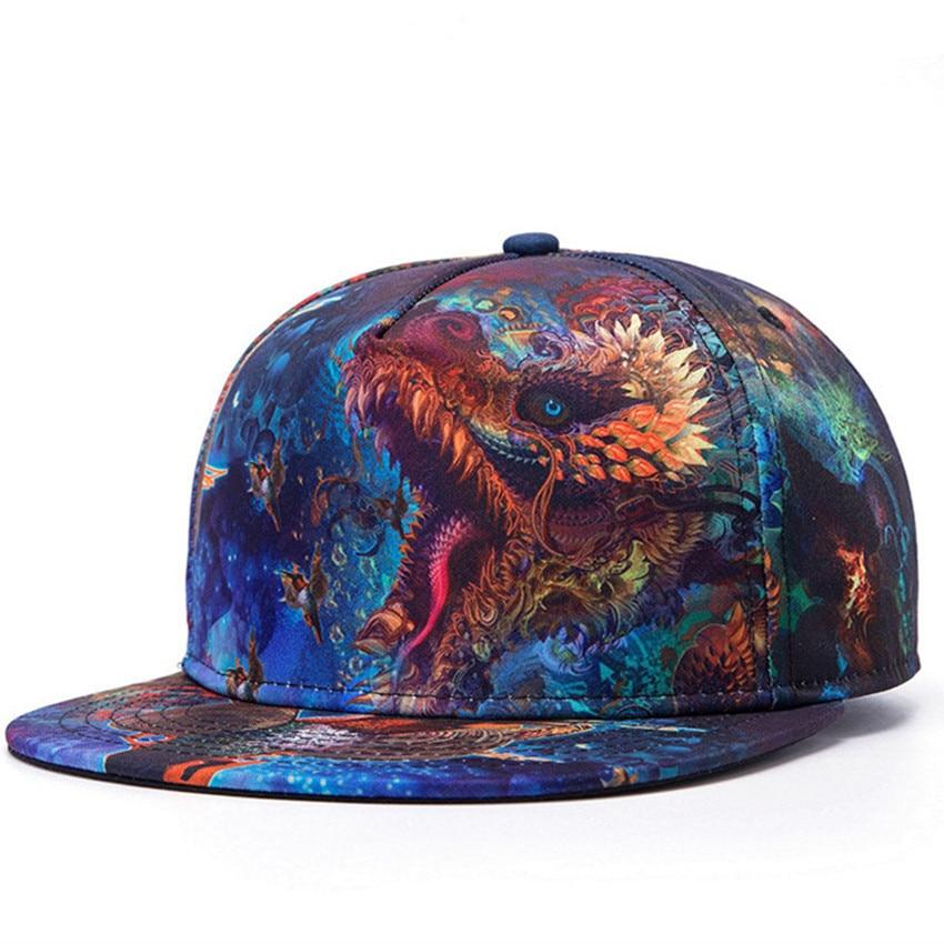 0e4cae21a04 Snapback Gorras Hat Bon Flat Brimmed Baseball Cap 3D Print Adjustable Hater  Raiders Cotton Hip-hop Trucker Bone Caps