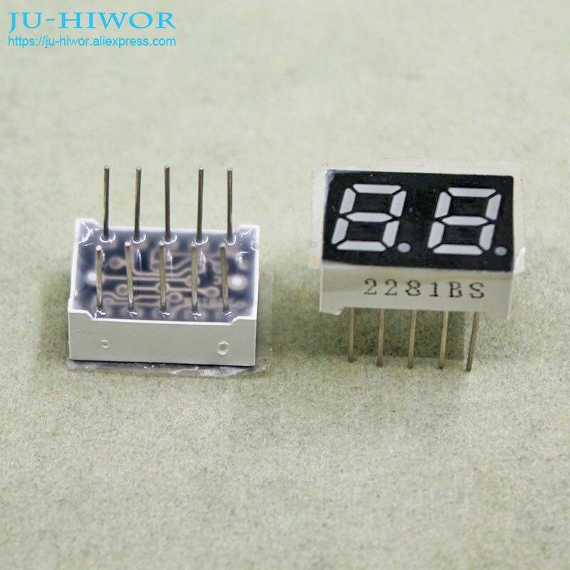 (10pcs/lot) 10 Pins 2821BR 0.28 Inch 2 Digits Bits 7 Segment Red LED Display Common Anode Digital Display Pin2 5 Common Pin