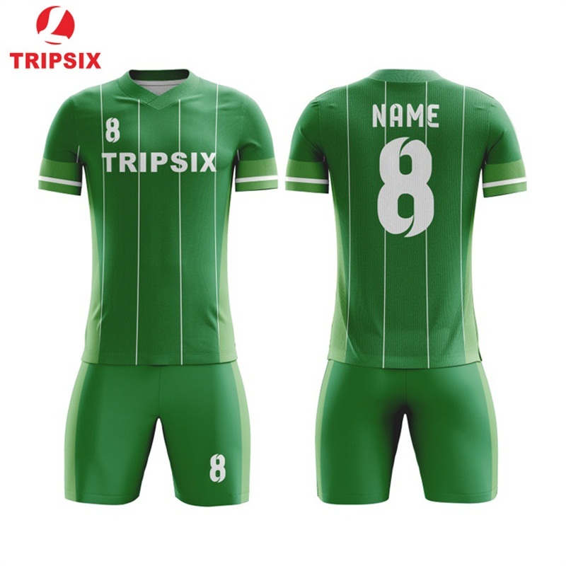 Army Green Color Men Football Shirts Thai Quality Football Shirt 3D Sublimation Soccer Jersey