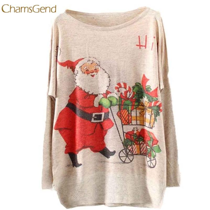CHAMSGEND Women 2018 Winter Warm Sweater Knitting Christmas Batwing Knitted Long Sleeve Jumper Tops Drop Shipping Gifts