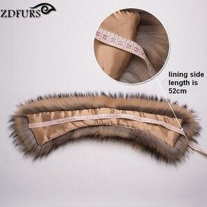 Image 4 - ZDFURS * damski kołnierz z prawdziwego futra szop kwadratowy kołnierzyk szalik szal kołnierz zimowy szalik ZDC 163010