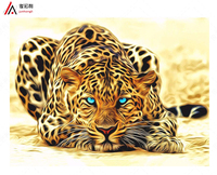 Unframed Leopard Animals DIY Painting By Numbers Acrylic Picture Wall Art Canvas Painting Home Decor Unique