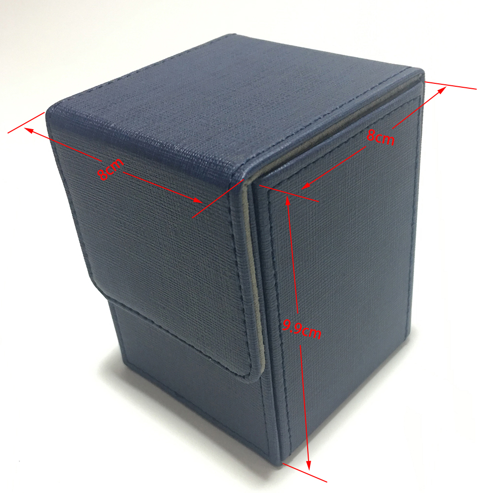 Blue Color Top load Small Deck Box Top Open Deck Case For Magic Board Game Cards Blue Color in Board Games from Sports Entertainment