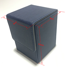Blue Color Top load Small Deck Box Open Case For Magic Board Game Cards: