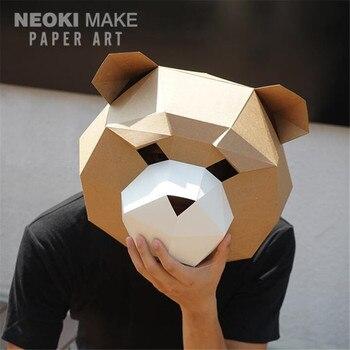 Маска ручной работы Медведь 1