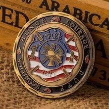 Нерегулярный рисунок копия монеты красочный пожарный отдел Логотип коллекция монет мемориальная монета сувенир подарок коллекционные монеты