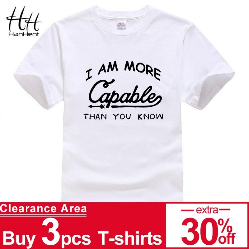 HanHent 순수 코 튼 짧은 소매 운동 T- 셔츠 남자 편지 인쇄 T 셔츠 남성 캐주얼 패션 Tshirt 편안 소프트 셔츠