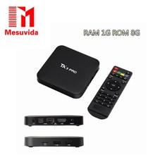MESUVIDA TX3 PRO TV BOX Android 6.0 Amlogic S905X Quad Core Set-top Box 1G 8G Android TV Box HDMI H.265 2.4G WIFI Media Player