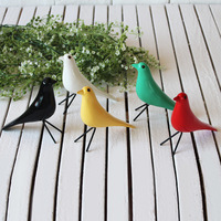 2017 Home Christmas Decoration Wood Carving Wood Love Bird Miniatures Furnishing Articles Classic Bird Model Wood