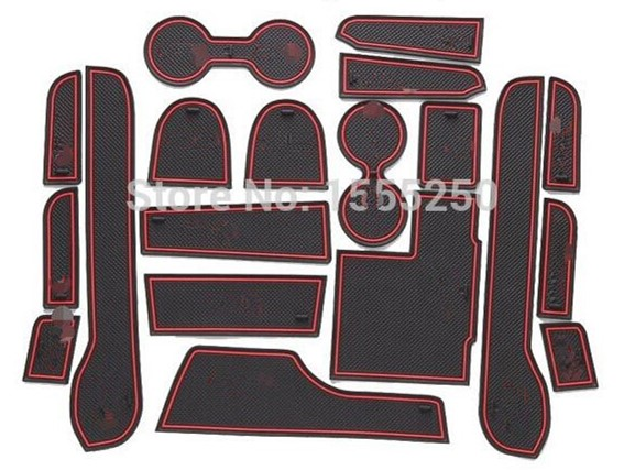 Non-slip Interior Door Pad,cup Mat Door Gate Pad For Mitsubishi  Pajero Sport 2014 2015,19pcs/lot,car Styling