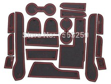 Non-slip Interior door pad,cup mat door gate pad for  pajero sport 2014 2015,19pcs/lot,car styling