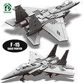 F-15 eagle avión de combate ejército militar conjunto de modelos y juguetes de construcción de bloques de construcción ladrillos wange bloques compatibles con lego