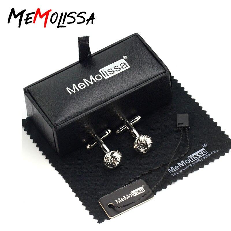 MeMolissa Cufflinks Set Classical Design 3 Layers Knot Cufflinks For Wedding Party Gift