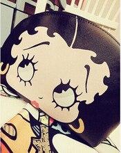2014 nouvelle vente célèbre marque mignon de bande dessinée en cuir fringe femmes sacs à main et sacs à main betty boop sac
