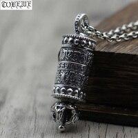 100% 990 Silver Tibetan Gau Pendant Necklace the Eight Buddhist Auspicious Symbols Pendant Buddhist Sacred Symbols Prayer Box