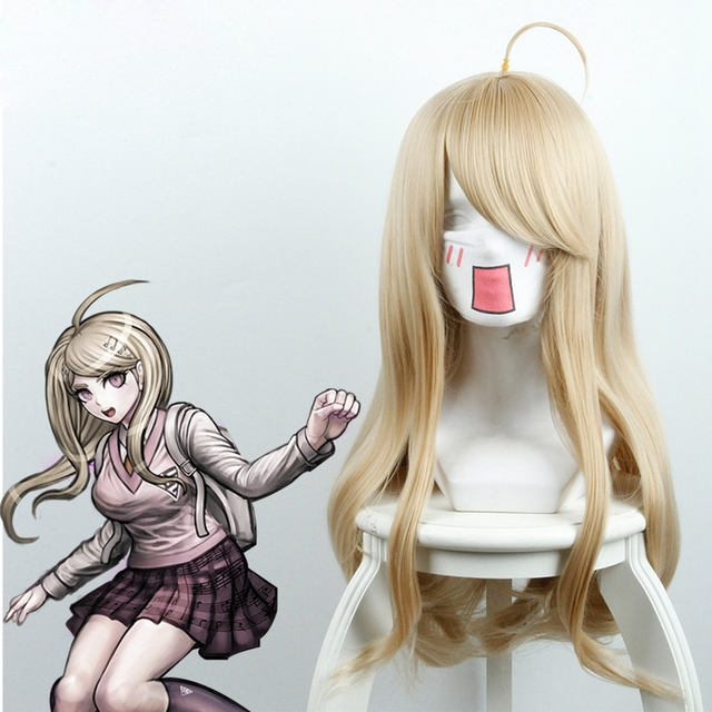Danganronpa V3: Killing Harmony Akamatsu kaede Cosplay Costume Long Straight Blonde Synthetic Hair Women Girls' Party Hair