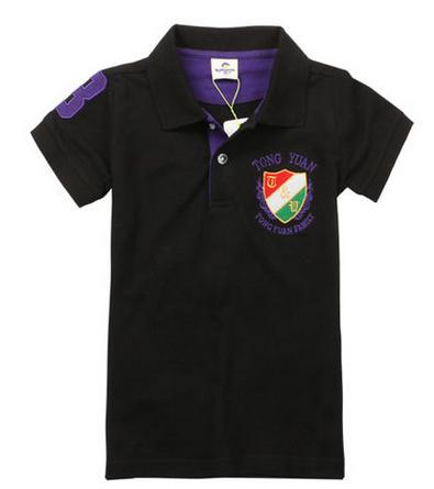 Crianças t-shirt verão 2017 moda boys100 % algodão-manga curta T-shirt turn-down colarinho da camisa ocasional das crianças topos