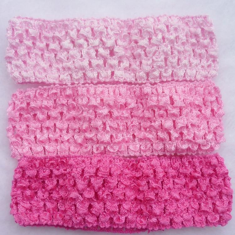 10pcslot Girls Stretchy Crochet Elastic Hair Band Newborn Kids Tutu