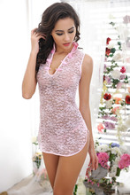 sexy lingerie Baby Dolls women Exotic Apparel lingerie cheongsam Transparent sexy underwear hot sexy costumes cosplay nightdress