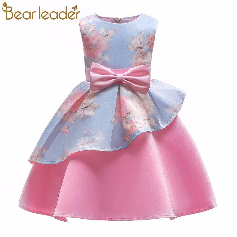 Oso Leader Niñas Vestidos 2018 Nueva Marca Princesa Clohting