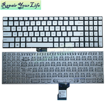 N541 Q501 English laptop keyboard for ASUS N541 N541LA q501LA US keyboard silver 9Z.N8SBU.H01 0KNB0-6627US00 wholesales dropship