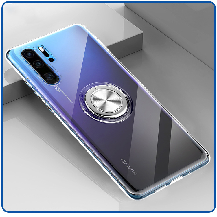 Cases for <font><b>Huawei</b></font> P30 Pro <font><b>P20</b></font> <font><b>Lite</b></font> Nova 4e 3e 4 <font><b>Mate</b></font> 20 20X Honor V20 Case Invisible Finger Ring Transparent Soft Cover Case <font><b>Capa</b></font> image