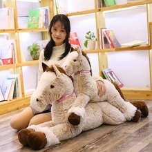 85/125 Cm Super Soft Toys Big Size Horse Pony Pillow Stuffed Plush For Children & Fans Gift