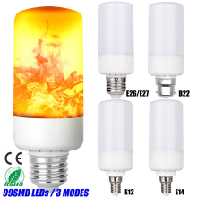 LED Flame Lamp 99Leds 3 Modes E26/E27 B22 E12 E14 LED Flickering Emulation LED Bulb Halloween Decorative Light Bulb D40