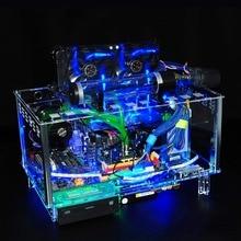 QDIY PC-D779XM горизонтальный MircoATX HTPC акрил прозрачный Рабочий стол PC водяного охлаждения чехол для компьютера