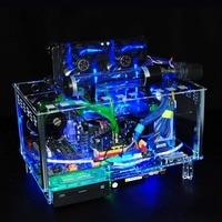 QDIY PC D779XM Horizontal MircoATX HTPC Acrylic Transparent Desktop PC Water Cooling Computer Case