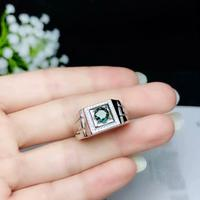 classic green sapphire ring men silver ring like a treasure fine jewelry magic power birthday party anniversary gift