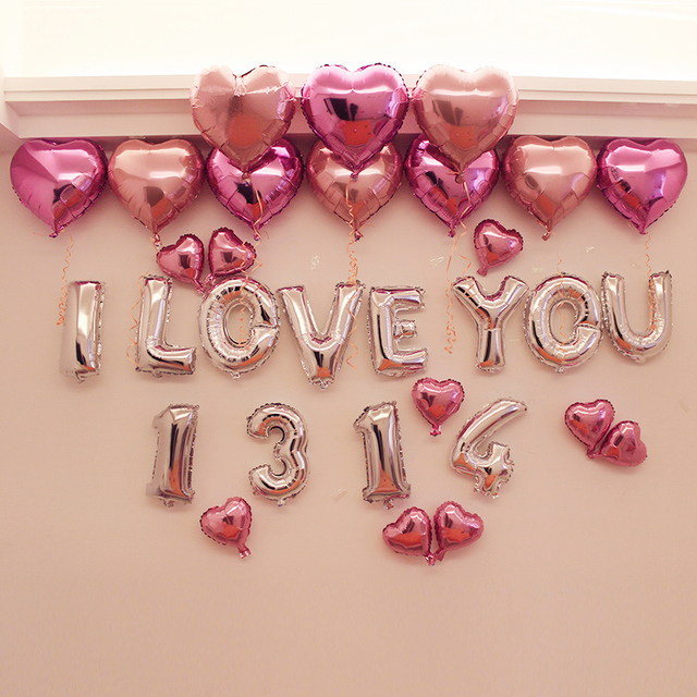 "aliexpress : buy 16"" letter i love you 1314 foil balloons+, Ideas"