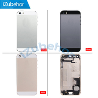 100 Warranty Gold Silver Grey Back Cover Battery Case Full Housing With Middle Frame Flex Cable