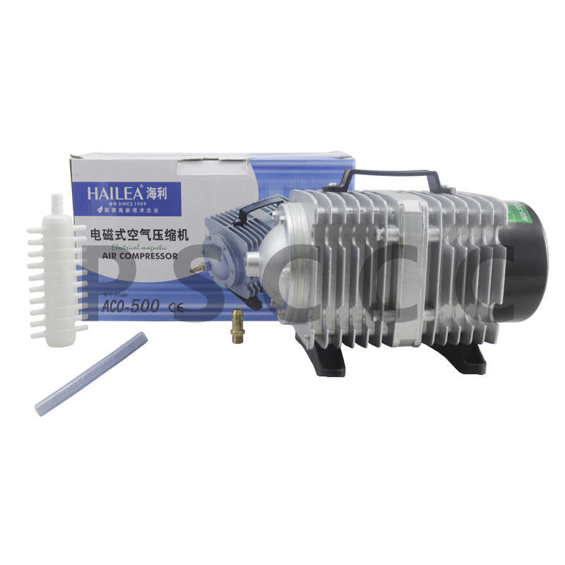 Pet Products Fish & Aquatic Supplies 420l/min Hailea Aco-500 Electrical Magnetic Aquarium Air Compressor With Air Divider For Fish Tank Hydroponic Aerator 26 Outlet Delaying Senility