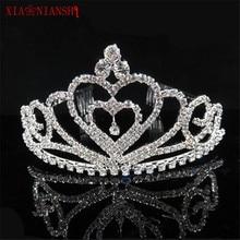 Gorgeous Delicate Crystal Pearl Bridal Crown Rhinestone Headbands Hair Accessories Romantic Wedding Tiaras Bride Hair Ornaments