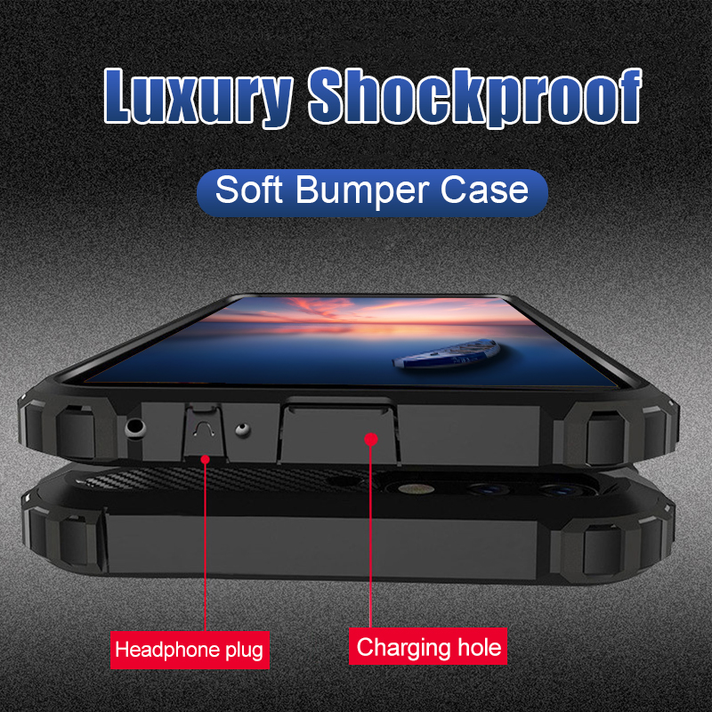 Luxury Armor Bumper Case On The For Samsung Galaxy S7 Edge S9 S10 S8 Plus Shockproof Case Cover For Note 9 Silicone Phone Case