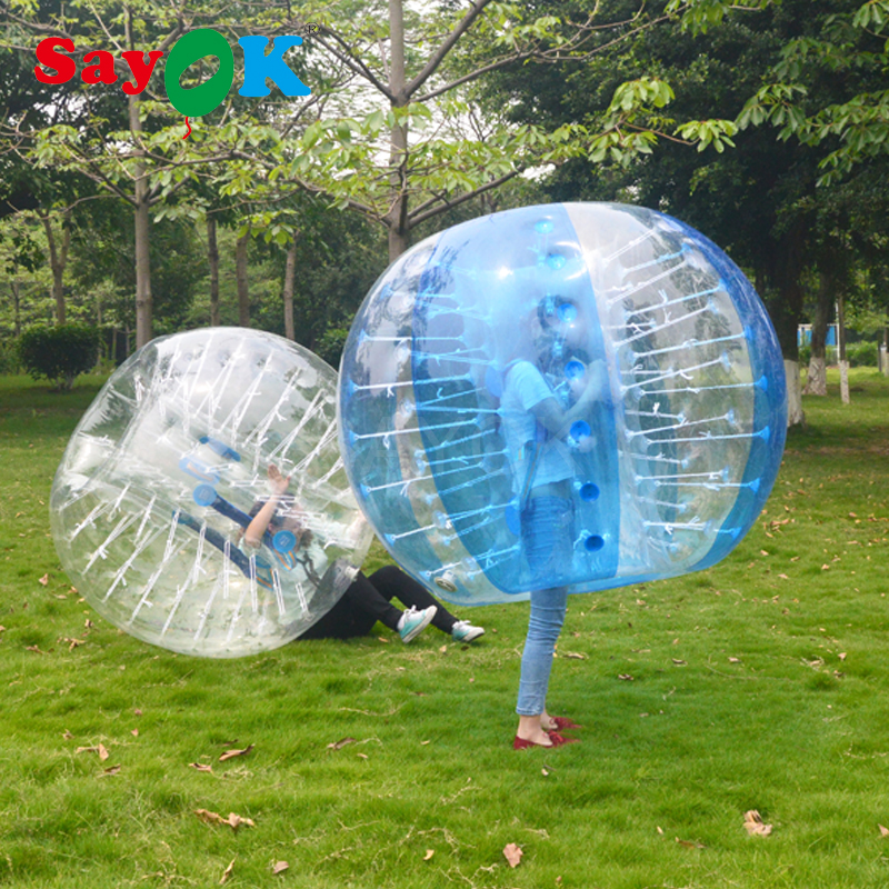 1.2m Inflatable Bubble Soccer 0.7mm TPU Air Bumper Ball Body Zorb Ball Bubble Football Bubble Soccer Ball For Sale