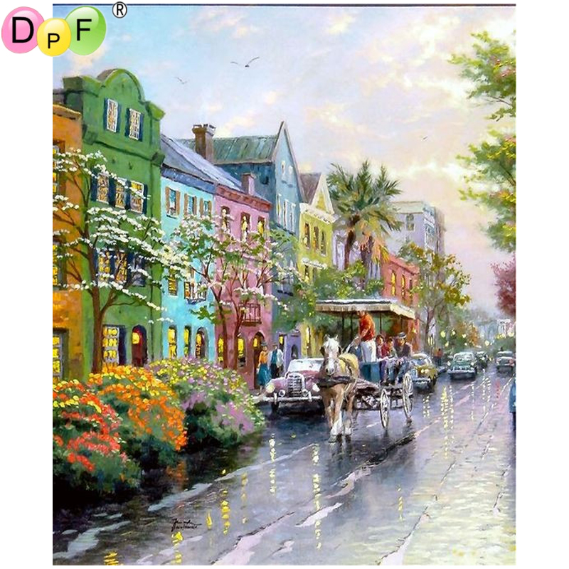 DPF DIY The horses and chariots 5D diamond painting cross stitch crafts diamond mosaic full square diamond embroidery home decor