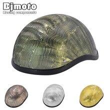 Bjmoto NEW motorcycle retro helemt Motorbike Bicycle Cycling Open Face Half Helmet Motor Head Protecter Helmet