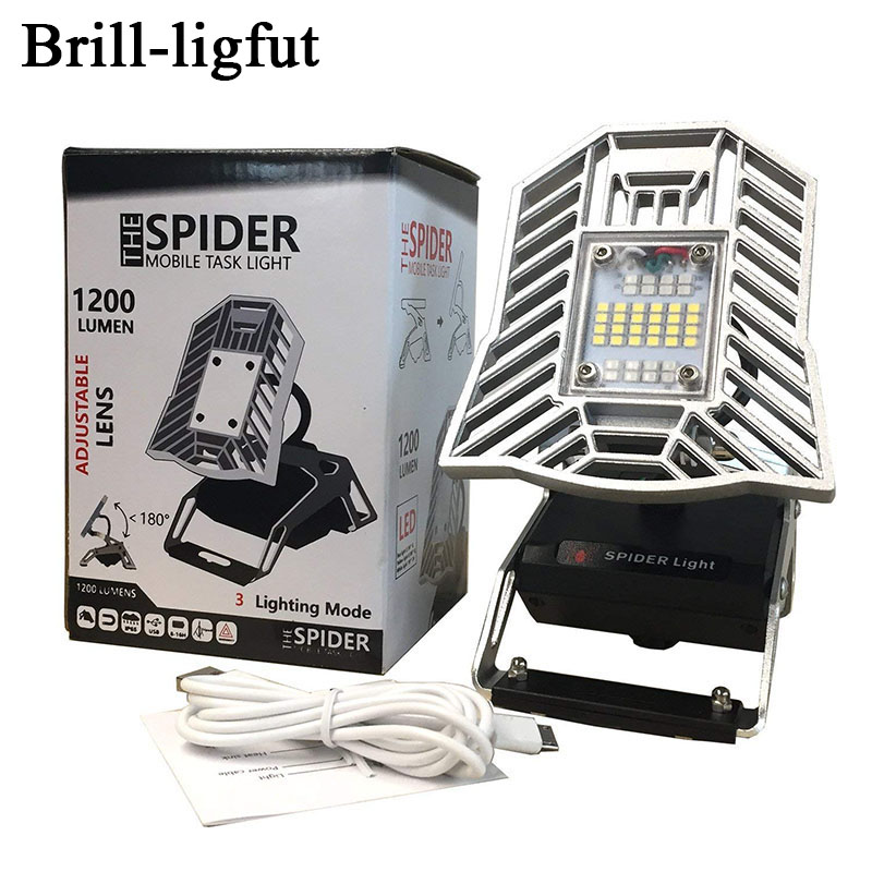 Us 48 99 25 Off Rechargeable 10w 1200 Lumen Spider Mobile Task Light Portable Led Work Light For The Garage Cars Campsite Home Auto Basement In