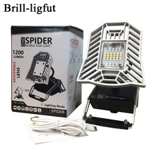 Rechargeable 10W 1200 Lumen Spider Mobile Task Light Portable LED Work Light for The Garage,Cars,Campsite,Home,Auto,Basement цена