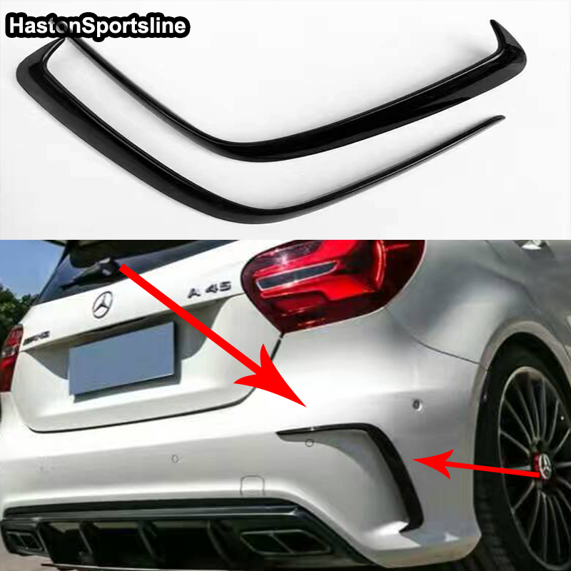 W176 A45 AMG Carbon Fiber Car-Styling Rear Air Dam Trimming Bumper Diffuser for Mercedes-Benz W176 A45 2016UP