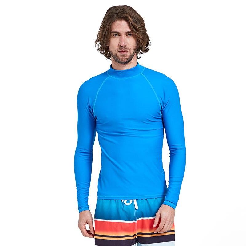 a969a412b7b8 Sbart 1 Pza Blue Rash Guards hombres Swimsuits manga larga Hombre traje de baño  natación surf vela Tops playa trajes de baño DDO