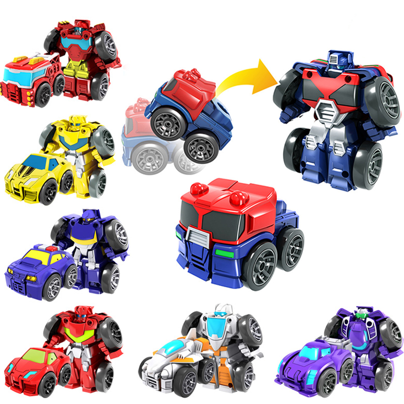 Hot Sale 6cm Rescue Bots Car Toys Transformation Robot Action Figures Toys For Kids Baby Gift Mini Version Deformation King Kong